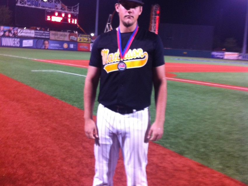 Madison HS Baseball Star Chris Karnbach Pitches in NYC Mayor's Cup All-Star Game